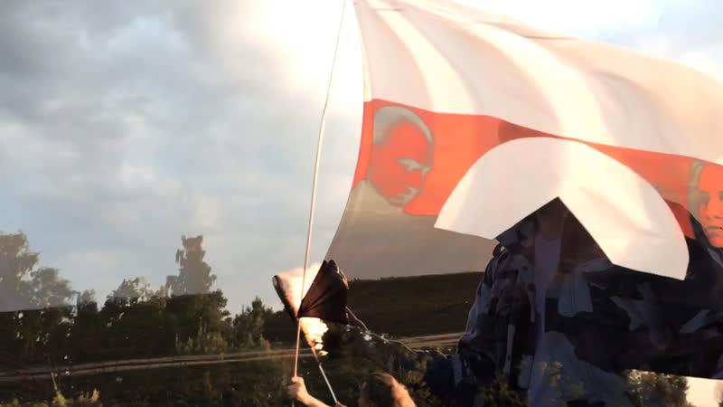 Северный флот поднимая знамя