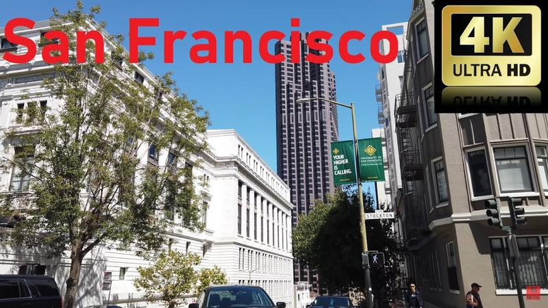 4K 👀 2019 Walking Tour To Union Square Downtown San Francisco 步行遊覽到聯合廣場舊金山(三藩市)市中心