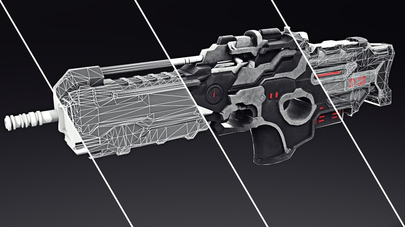 Sci-fi weapon hard surface modeling in 3Ds max – part 1