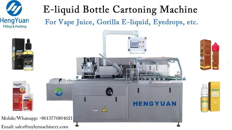 Automatic E liquid Bottle Cartoning Machine with Instruction Paper Folding Inserting Device