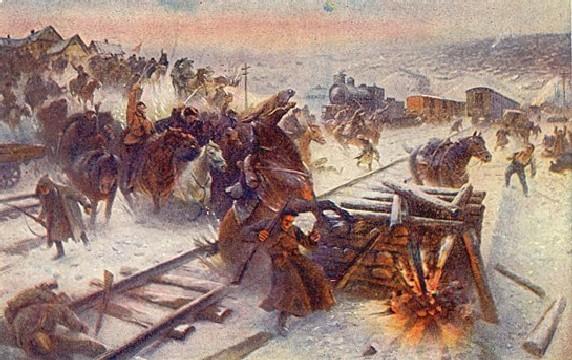 Первая Конная армия входит в Ростов
