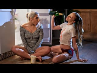 Abella danger, naomi swann slumber party secret (lesbian, bootyshorts, smallass, piercing, tattoo, blonde, feet, fetish)