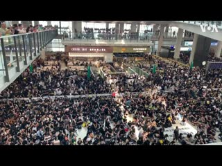 Protesters fill hong kongs international airport