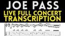 Joe Pass Transcription Live In Concert 1991 Solo Guitar