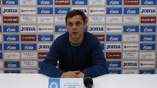 Оренбург-2 - КАМАЗ 1-2 (23 тур, ). Пресс-конференция Максима Грошева (гл. тренер ФК Оренбург-2).