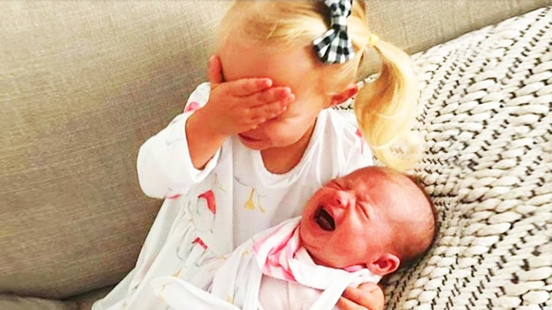 Legendary Moments When Kids Meet Newborn Babies Funny Baby Siblings