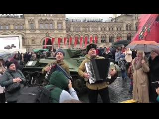 На красной площади прошел парад в честь 78-й годовщины военного парада