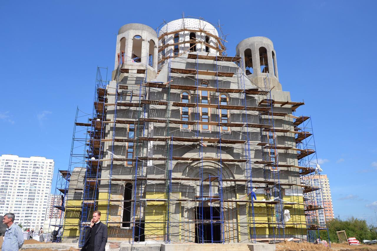 Купола храма на Покровской планируют освятить в следующем месяце