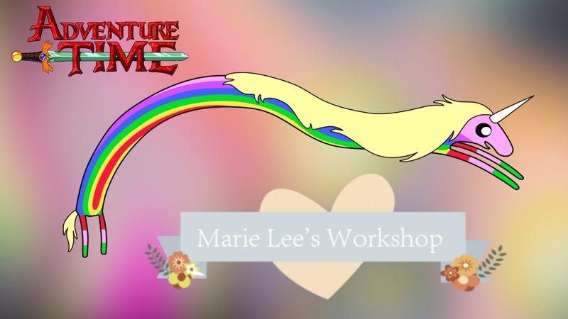 Время приключений Lady Rainicorn ПОЛИМЕРНАЯ ГЛИНА МАСТЕР КЛАСС Аdventure time Marie Lee's Workshop