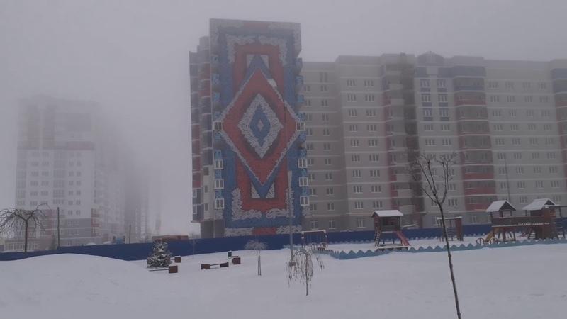 Брянск Страшный туман 22 01 2021 район старого Аэропорта