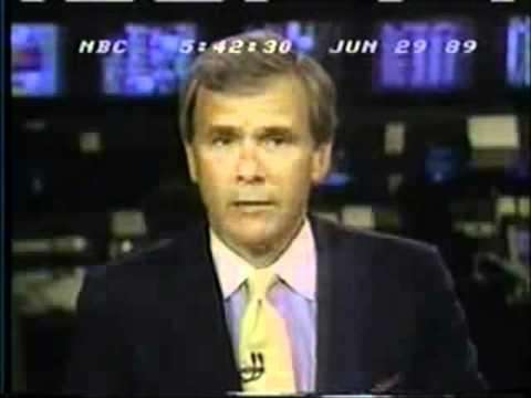 Tom Brokaw, 1989 White House Call Boy Scandal Reagan/Bush White House Pedophile ring