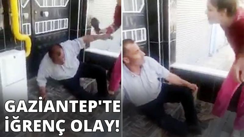 Gaziantep'te iğrenç olay Taciz şüphelisini terlikle dövüp polise teslim ettiler