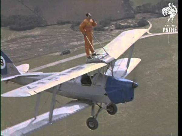 Tamar Bridge Stunt Girl Colour 1962