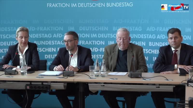 Alice Weidel Alexander Gauland und Herbert Kickl FPÖ zur interparlamentarischen Zusammenarbeit 1080p 25fps H264 128kbit AAC