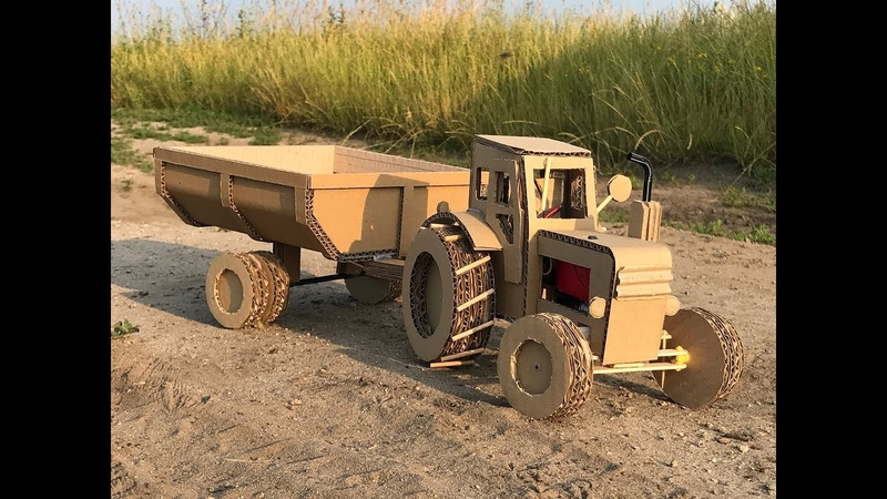 How to make RC Tractor T-40 from cardboard