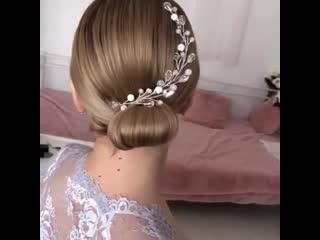 Простая прическа для подружки невесты