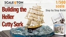 Building The Heller Cutty Sark Scale Model Ship with Clear Casting Resin Base