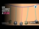 Cinema 4D Tie an object to a point on a spline Spline Dynamics