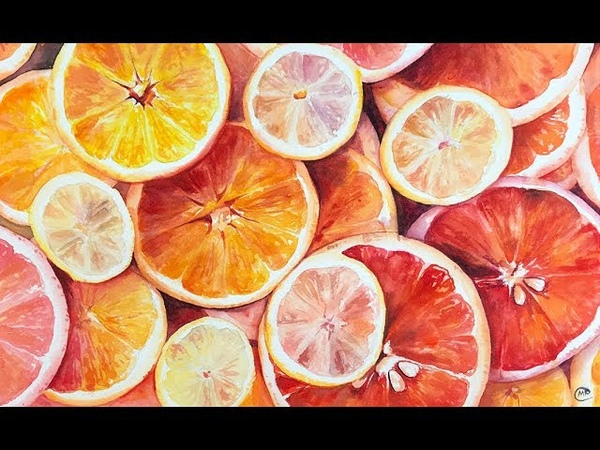 How to Paint Orange Slices in Watercolors