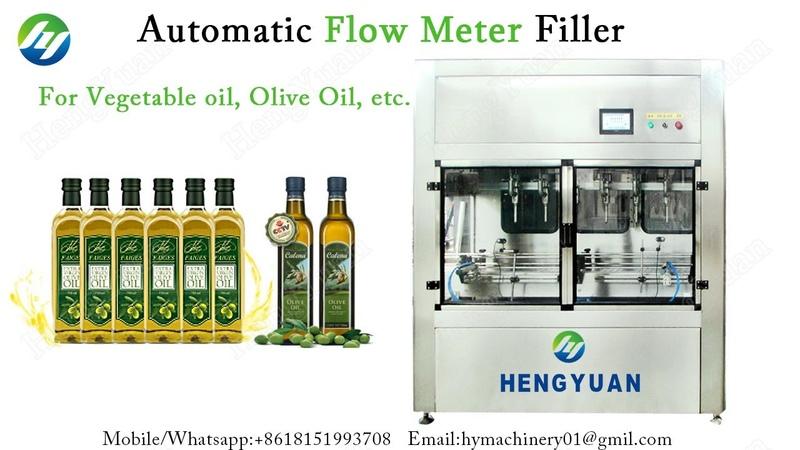 Automatic Flowmeter Filling Machine for Olive Oil Packing in Bottles Vegetable Oil Filling Machine