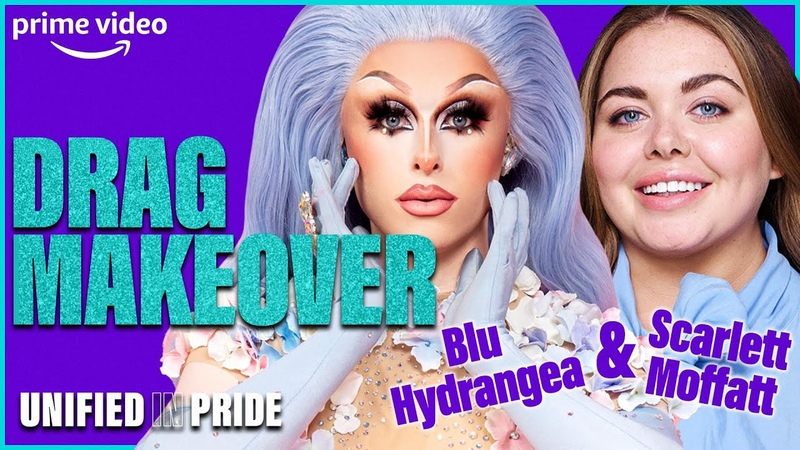 Drag Race Star Blu Hydrangea Guides Scarlett Moffatt in a Drag Makeover Tutorial Prime Video