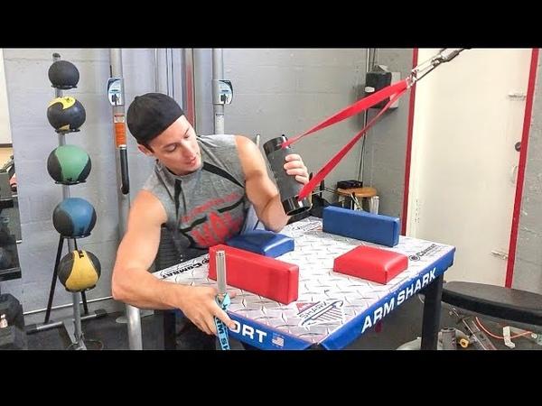 GYM ARM WRESTLING TRAINING with MAKS TAUBIN WAL armwrestling armshark