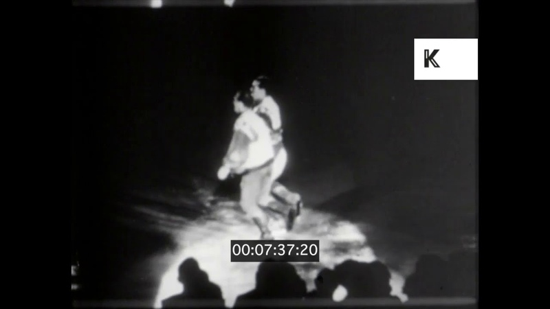 1940s 1950s USA Atlantic City Ice Capades Ice Skating 16mm