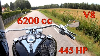 Boss Hoss V8 Motorcycle 6200cc 445hp Test Ride and Specs