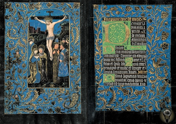 «Чёрный часослов» одна из семи сохранившихся рукописей XV века с черными страницами Часослов был создан в Брюгге неизвестным мастером, сейчас он находится в библиотеке Моргана в