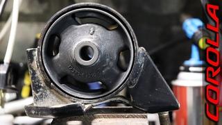 Замена задней подушки ДВС Toyota Corolla AE100 (4a,5a,7a,4e,5e)