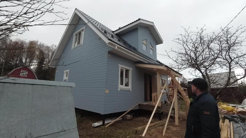 Каркасный дом 7 на 9 в Московской области, дер. Андрейково