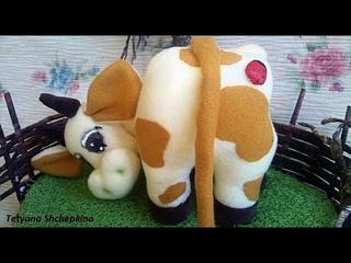 Символ 2021г. Супер корова сестричка быка. Сделать корову из ткани. Мастер класс. La Vaca que Ríe 1ч