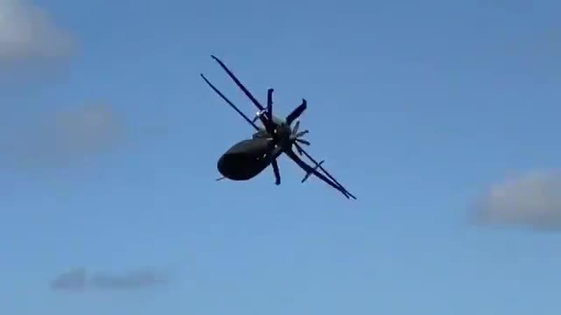 Перспективный многоцелевой вертолет SB 1 Defiant созданный по редкой для США соосной схеме размещения несущих винтов