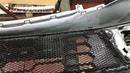 Mitsubishi L200 защита радиатора от пробоя Установка декоративно защитной сетки в бампер и решётку