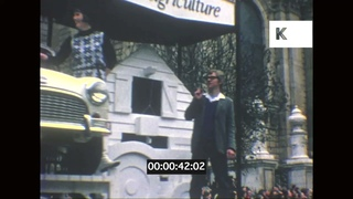 1967 London Lord Mayor's Parade, Procession, Floats, Costumes, 8mm