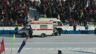 FIM Ice Speedway Gladiators World Championship в Уфе . Полу финал 1.
