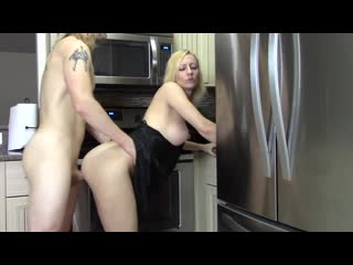 Mom in Satin Nightie Has Son Help With Frustration With Taboo Blow Job and Doggystyle Fucking