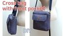 DIY Rectangle Cross Bag/Cross Bag tutorial /앞포켓이 있는 크로스백/사각 크로스백 만들기/패턴 공유