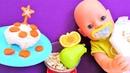 Play Doh oyunu Annabelle oyuncak bebek 6 aylik olmuş Özel bebek pastası yapıyoruz