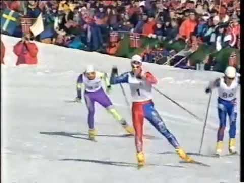 1994 02 19 Олимпийские игры Лиллехаммер лыжи 15 км мужчины свободный стиль гонка преследования
