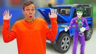 Машинки в видео онлайн - Ловушка для Супергероя! Джокер против Фёдора! – Лучшие игры для мальчиков