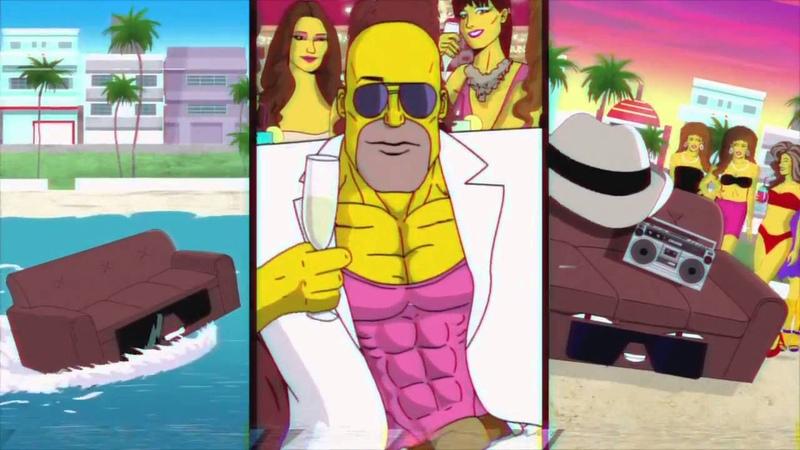 Новая эпичнейшая диванная заставка Симпсонов