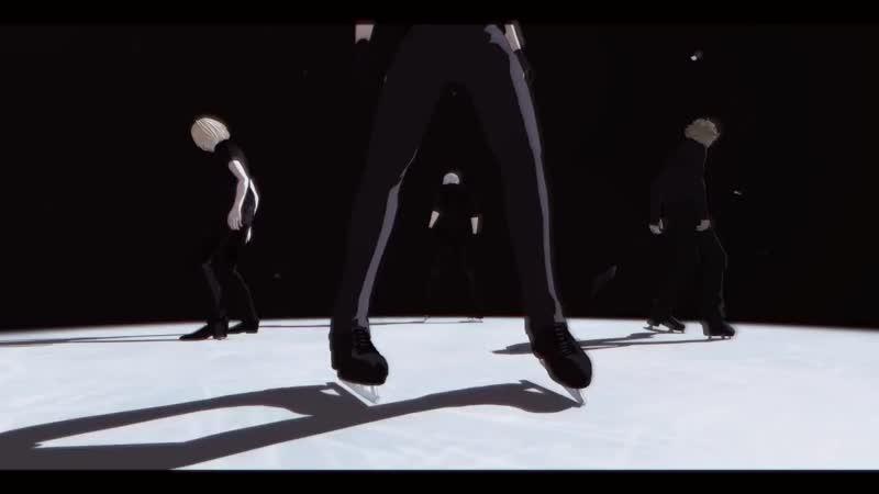[MMD] - ユーリ On Ice_【Fighter】_ (Yuri, Victor, Yuri, Minami) _ by@MMDak_sachi