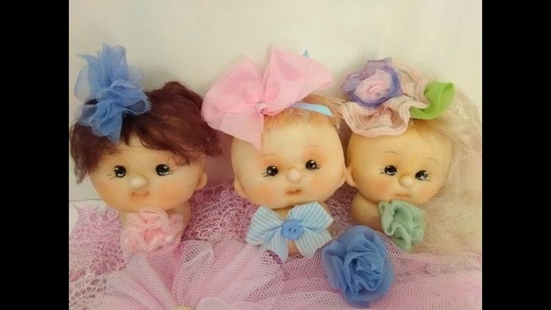 Кукла из капрона Сделать голову куклы из колготок в чулочной технике Cabeza estilo soft