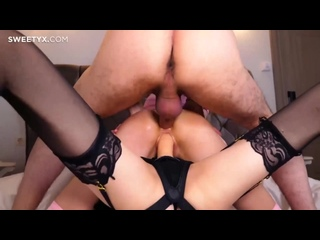Pandemonium [bdsm, submission, domination, anal, cumshot, strap on, lesbian, FFM, threesome, Carolina Sun, Yukki Amey]