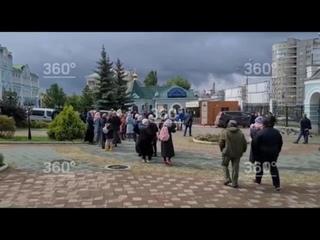 Сторонники бывшего схиигумена Сергия устроили митинг у здания Екатеринбургской епархии.
