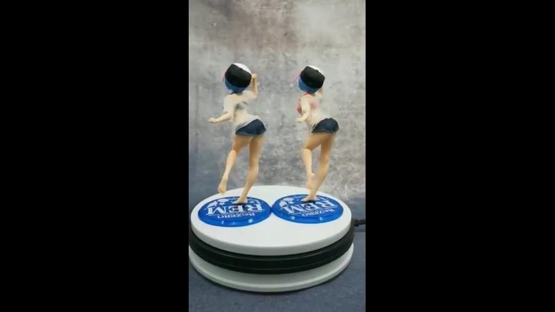 Новая фигурка для девочек из аниме re жизнь в другом мире от нуля купальник rem ram пвх фигурка модель игрушки подарки 23 см