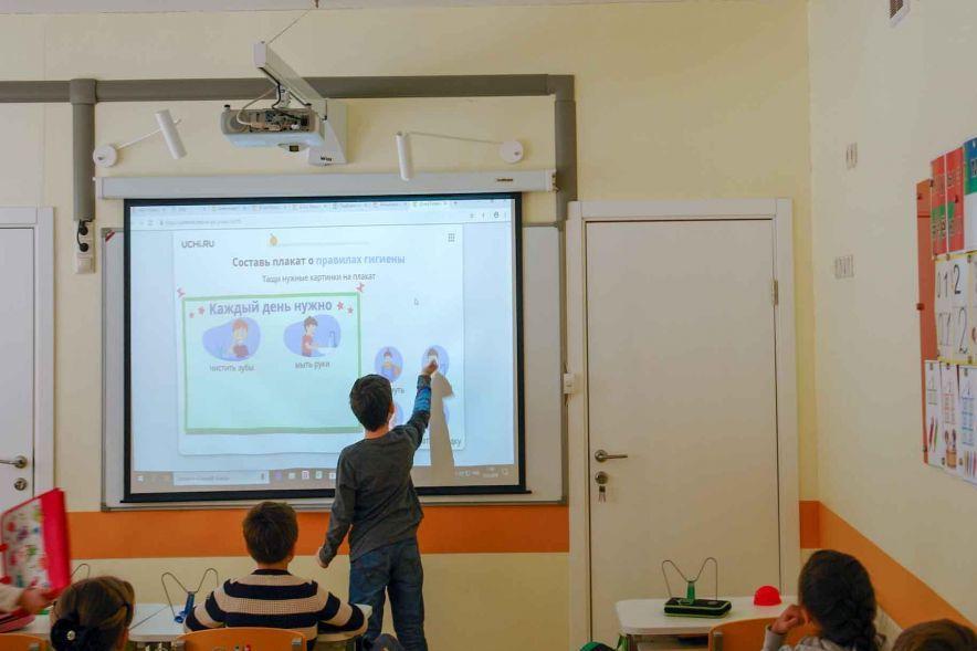 Интерактивная доска с проектором для школы