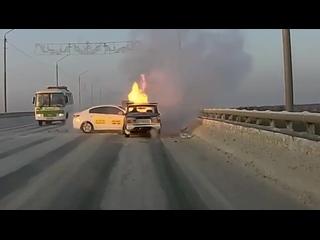 ДТП с возгоранием в Томске