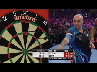 Phil Taylor vs Adrian Lewis (PDC World Matchplay 2017 / Semi Final)